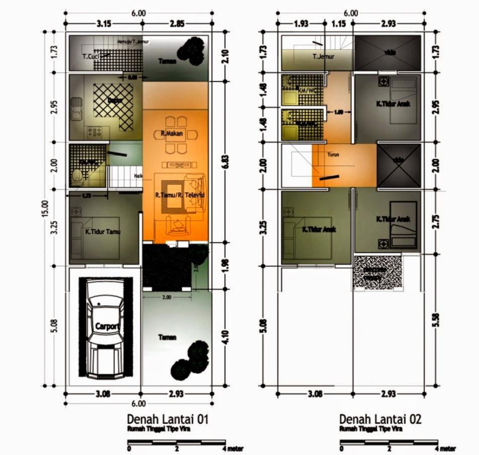 Sketsa Rumah Minimalis 2 Lantai 2014 2015   Denah Rumah   Desain