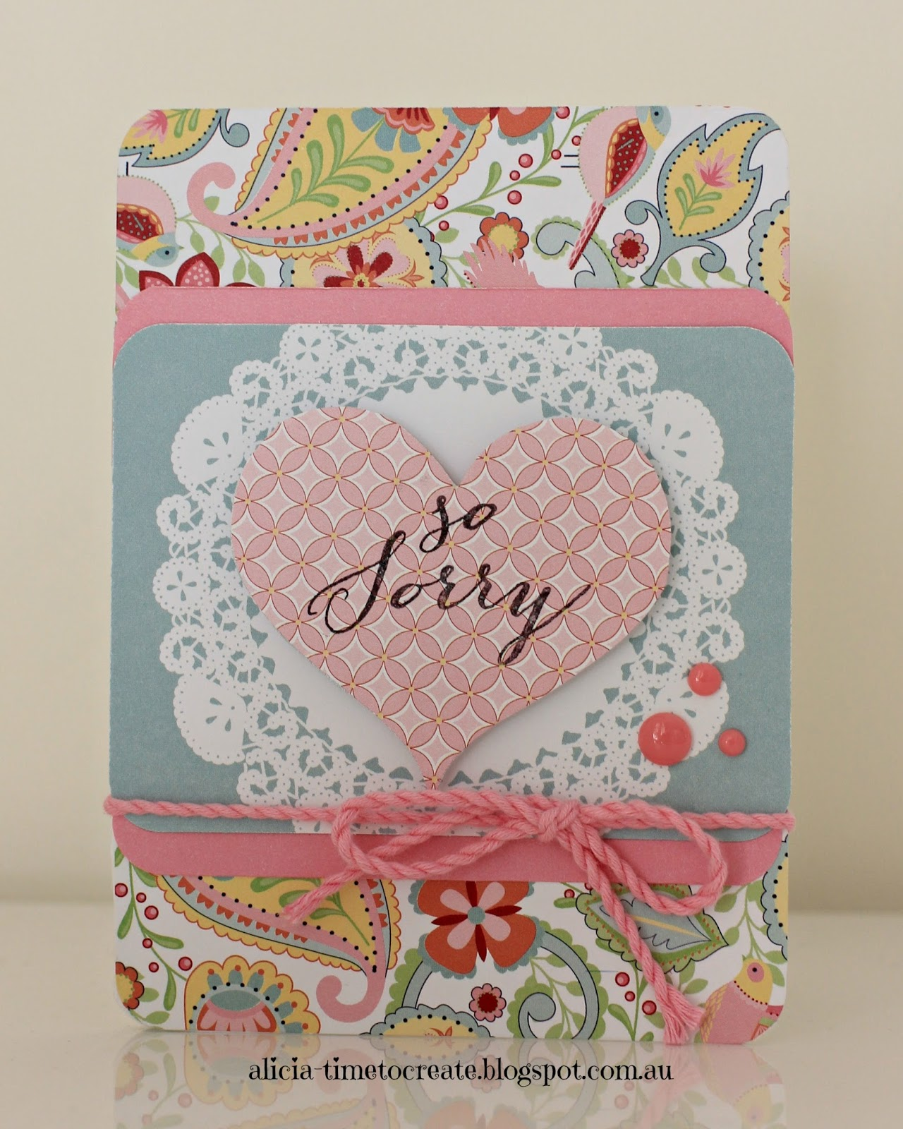Close to My Heart Sympathy Card