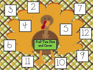 http://www.teacherspayteachers.com/Product/Free-Roll-and-Cover-Turkey-Mats-973359