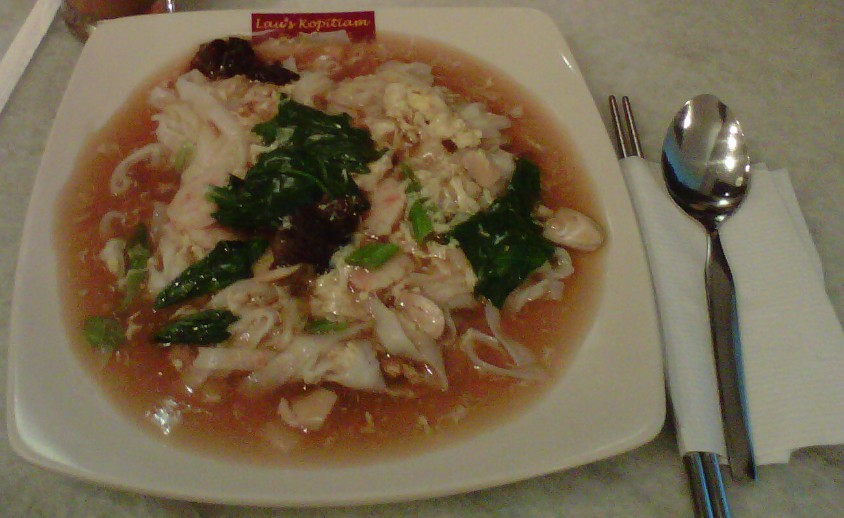 Masakan Kwetiau Siram Seafood