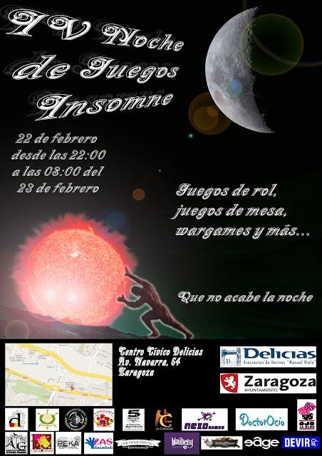 IV Noche de Juegos Insomne (Zaragoza) Cartel+noche+insomne+con+logos