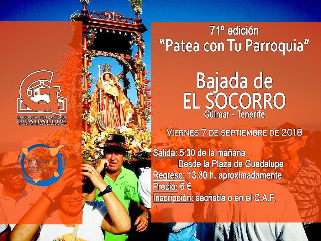 Ven con la parroquia a la Bajada de EL SOCORRO