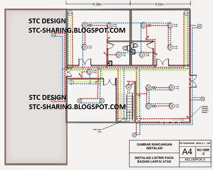 Menggambar rancangan instalasi listrik untuk rumah 2 tingkat dengan diagram kawat tunggal rancangan instalasi listrik cheapraybanclubmaster Choice Image