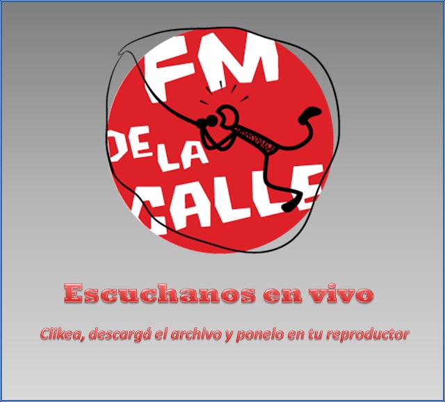 Poné el archivo que se descarga en tu reproductor y escuchá FM De la Calle!