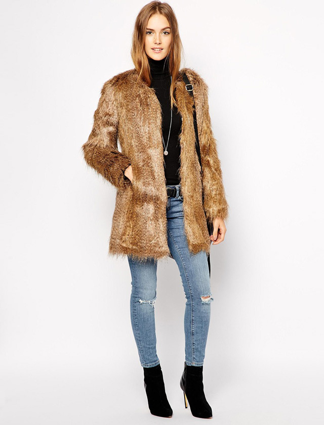 Faux fur coat, budna od umjetnog krzna by People & Styles