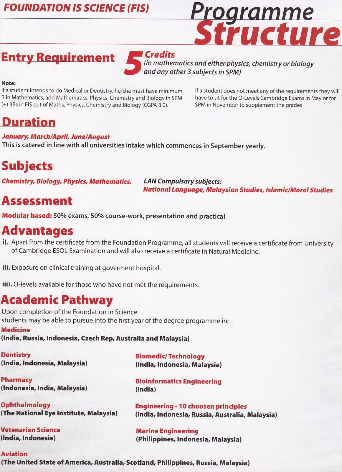 Program Uitm Pra Universiti Foundation In Science Jom