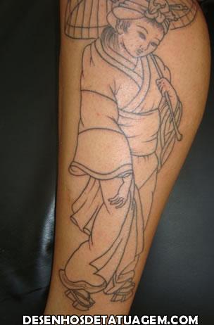 Tattoo de Gueixa no inicio