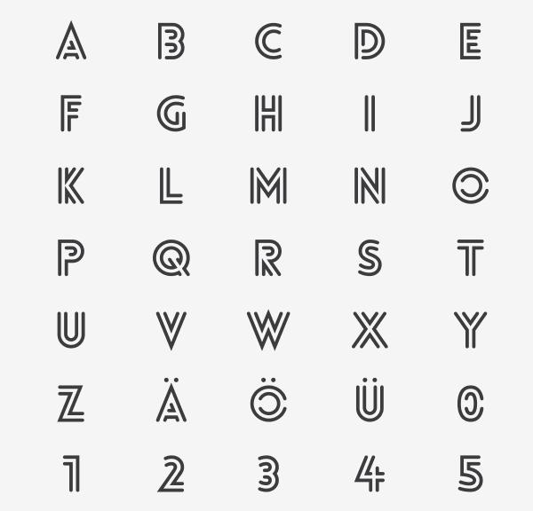 Lovelo Inline - Font