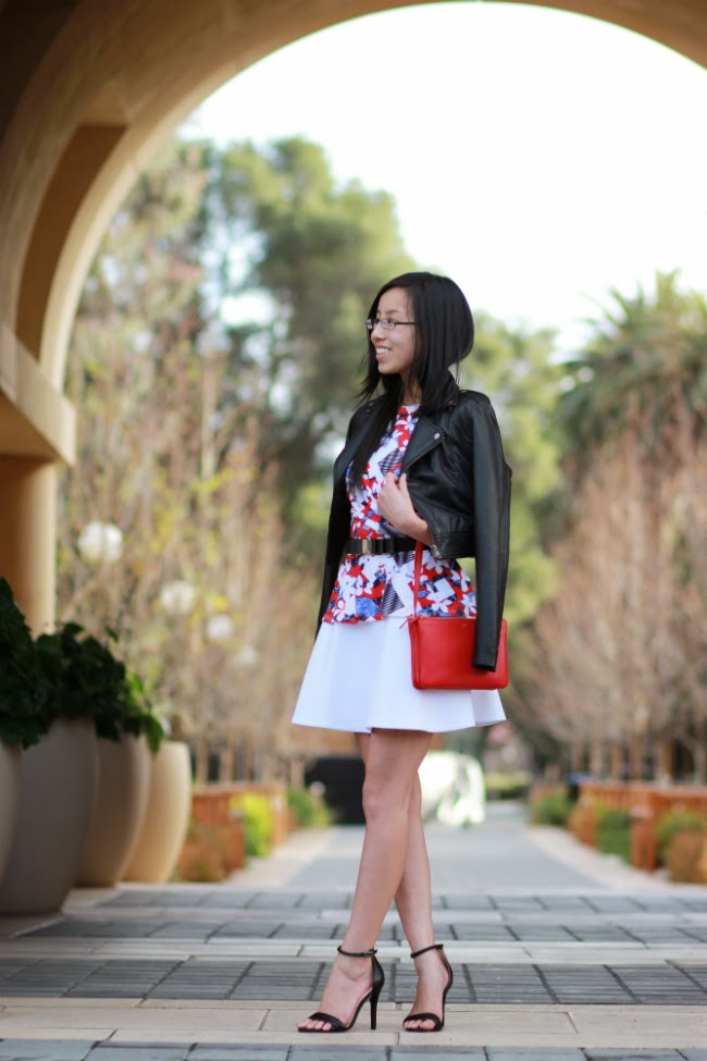 red white black color outfit trend idea spring summer