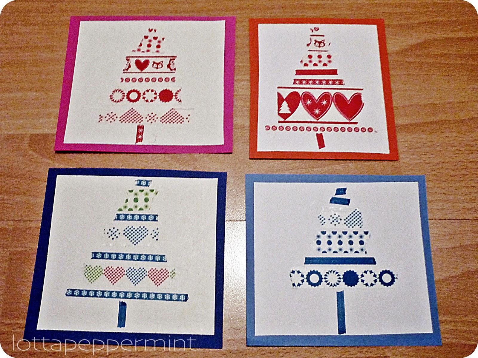 lottapeppermint noch mehr diy weihnachtskarten washi tape. Black Bedroom Furniture Sets. Home Design Ideas
