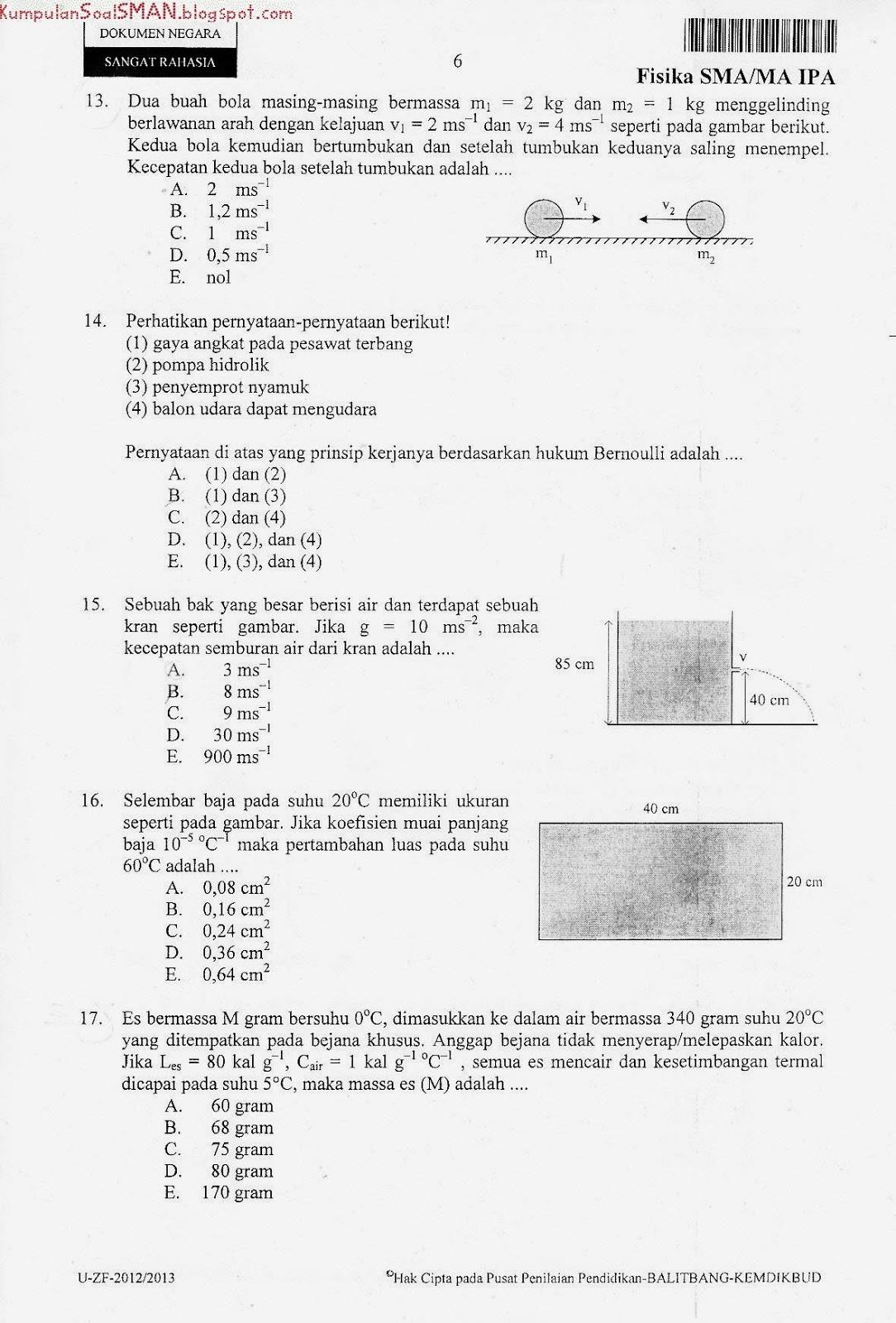 Soal Un Fisika Sma Ipa Kode Soal 55 2012 2013 Download Soal Sma Ma Gratis