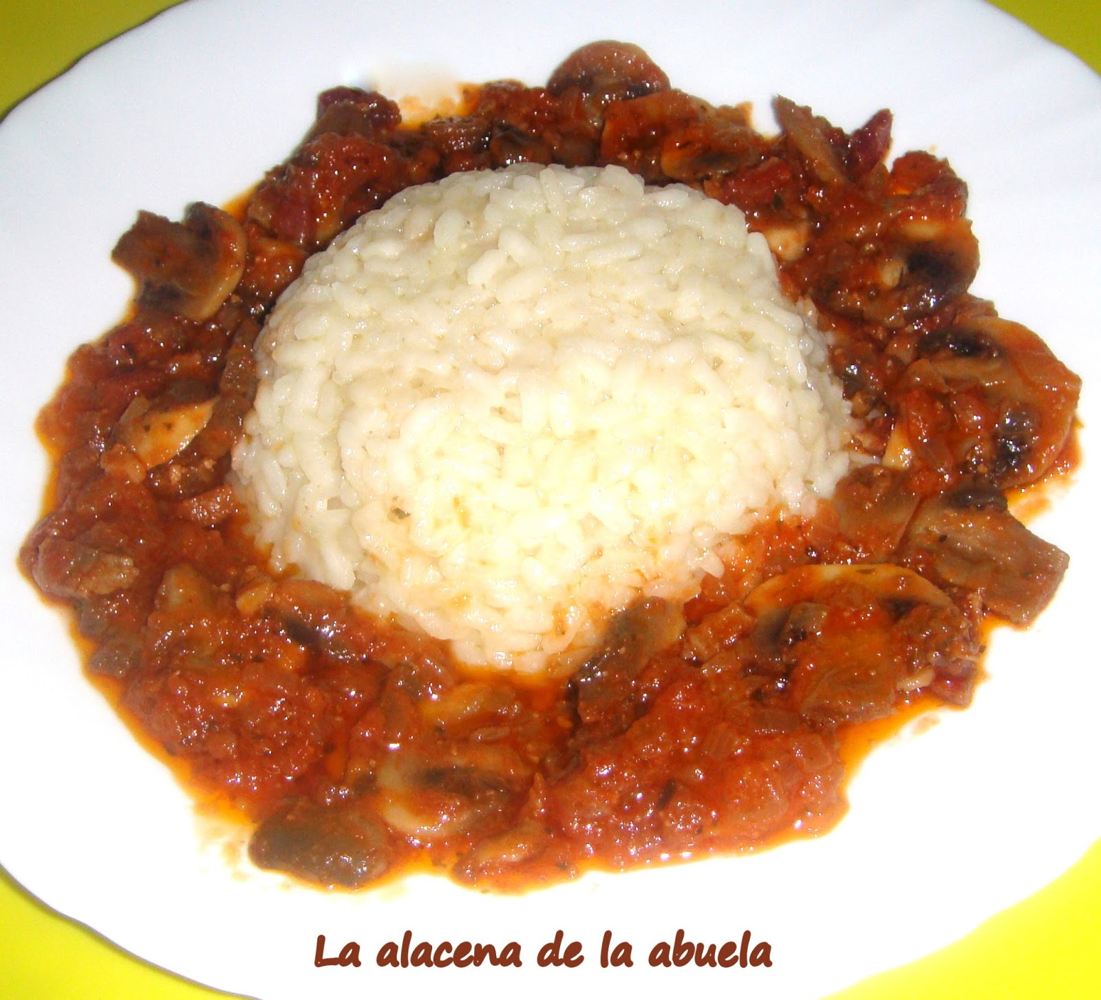 La alacena de la abuela carmen arroz con champi ones - Cocina casera de la abuela ...