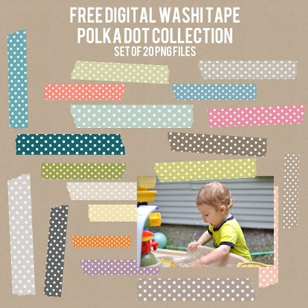 Free Polka Dots Pattern Washi Tape