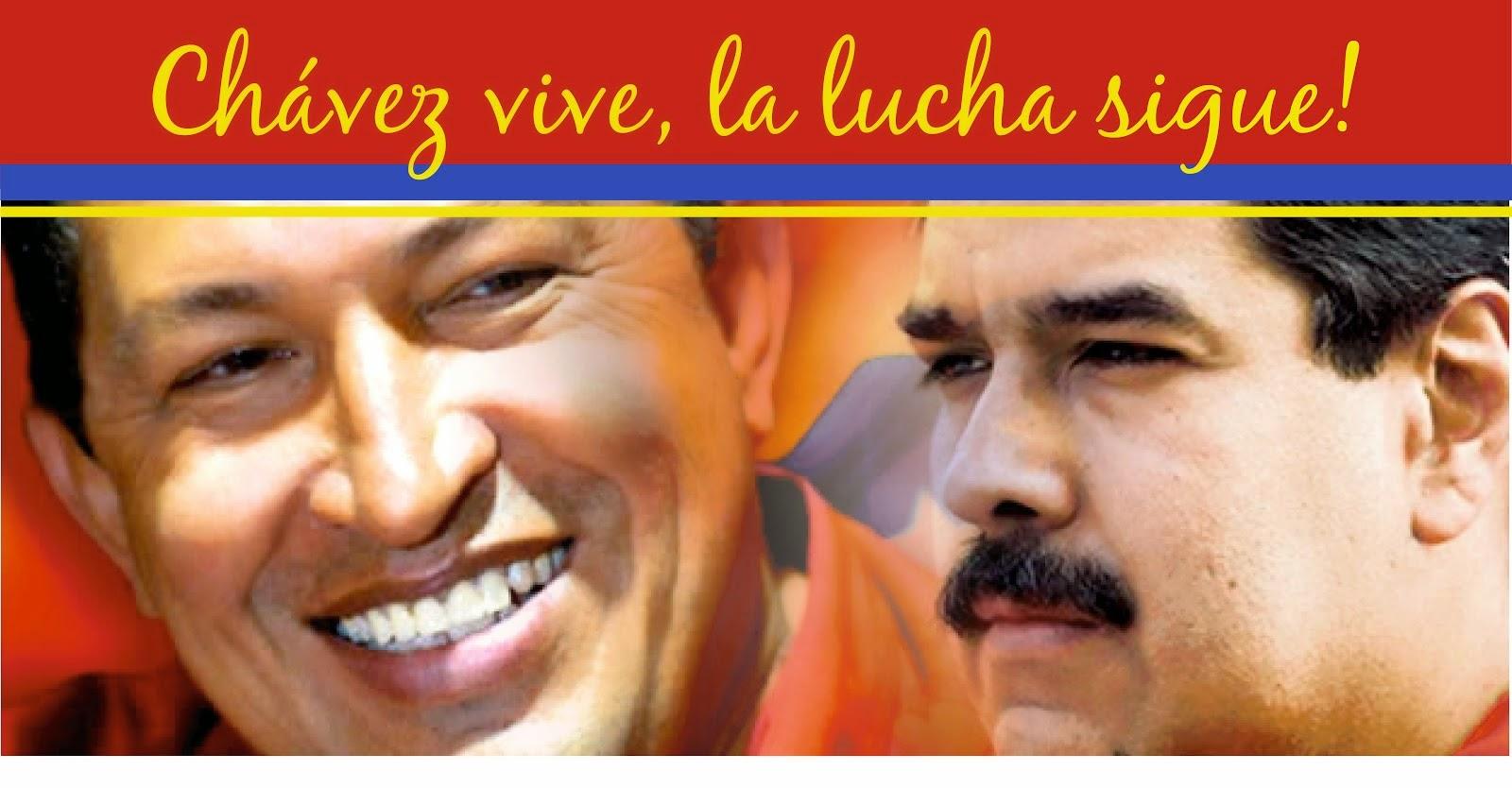 Los Pueblos de la Patria Grande con la Revolución Bolivariana.