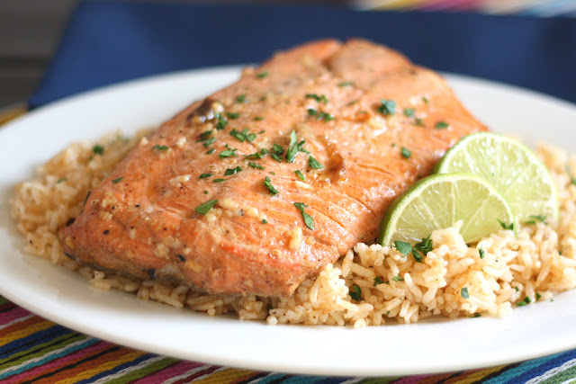 Chipotle Lime Salmon - get the recipe from barefeetinthekitchen.com