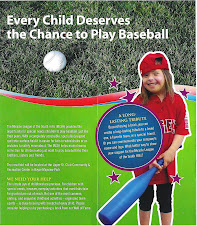 "Chloe is featured on ""Wall of Fame"" Miracle League brochure"