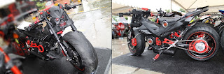 Foto Suzuki Satria R Modifikasi Pemenang Best Black Bike (Djarum Black