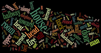 Wordle word cloud of a draft of the prologue of my Catholic science fiction work-in-progress