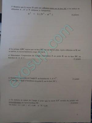 examen optique géométrique smpc s2 fsr