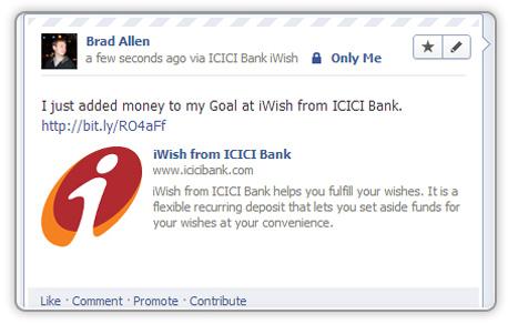iWish sur Facebook