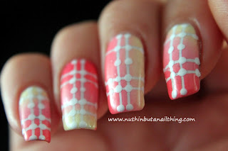 Pink and yellow striping tape gradient