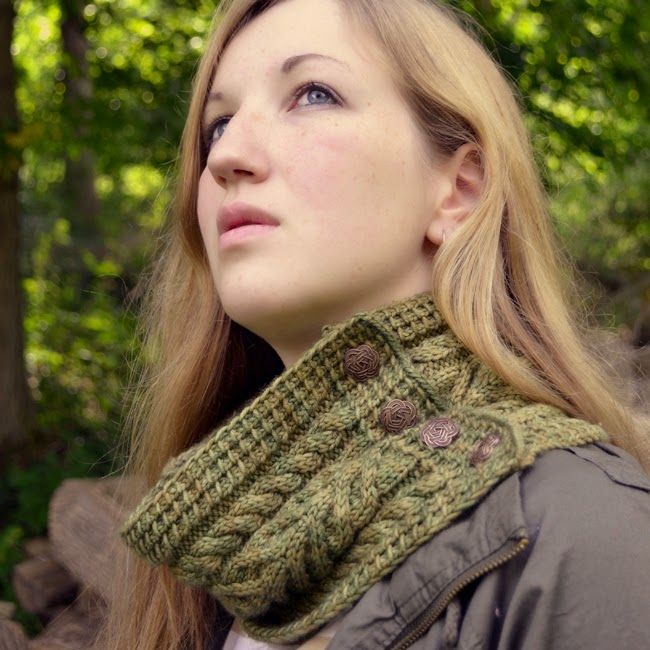 Cider Press Button Scarf/Cowl
