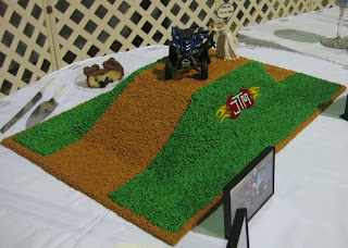 4-Wheeler Themed Groom's Cake - Angled View 2