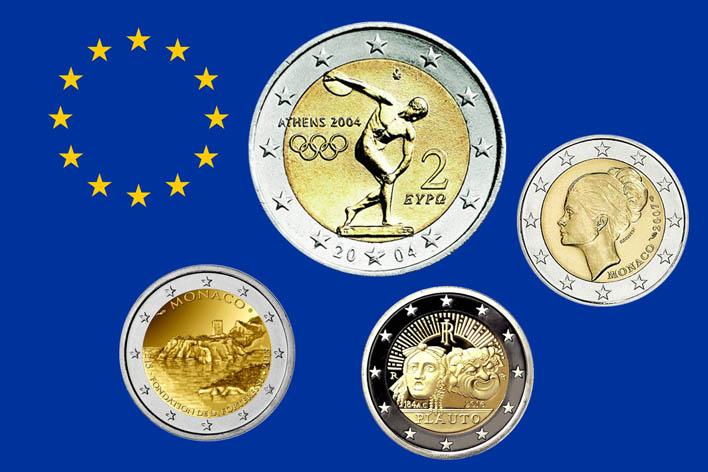 2 €uro Commemorativi Anni 2004-2017
