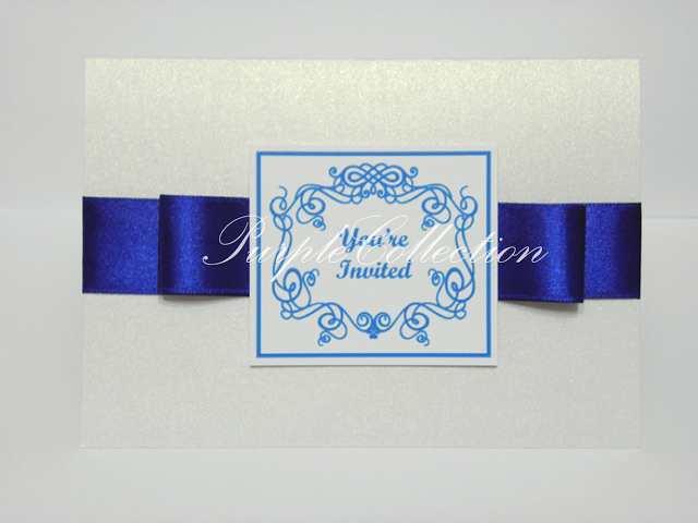 Best Seller Wedding Invitation Card + Map, wedding invitation cards, malay wedding cards, best seller wedding card, royal blue ribbon card