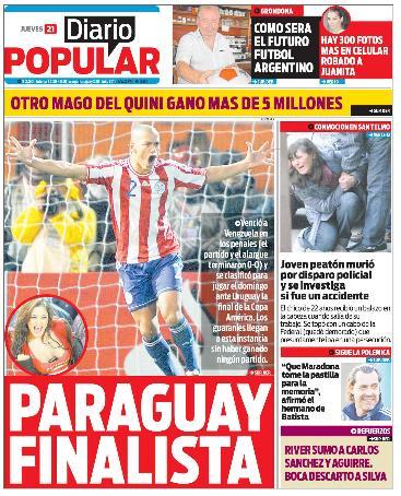 Tapa diarios cronica popular 21 07 11 report show for Diarios del espectaculo