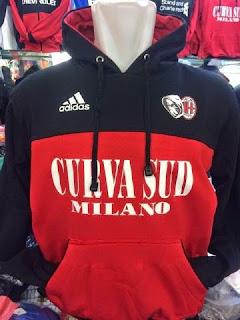 gambar jaket hoodie sweater ac milan terbaru warna hitam merah musim 2015/2016