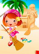 Уборка на пляже - Онлайн игра для девочек