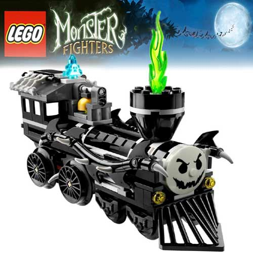 illuminated monster minifigure halloween lego locomotive refashioned legoville toby tram and percy - Lego Halloween Train
