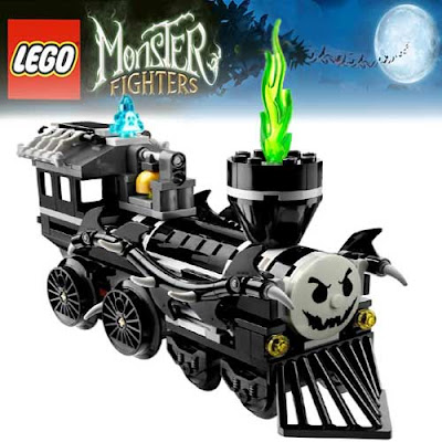 illuminated monster Minifigure Halloween Lego locomotive refashioned Legoville Toby tram and Percy