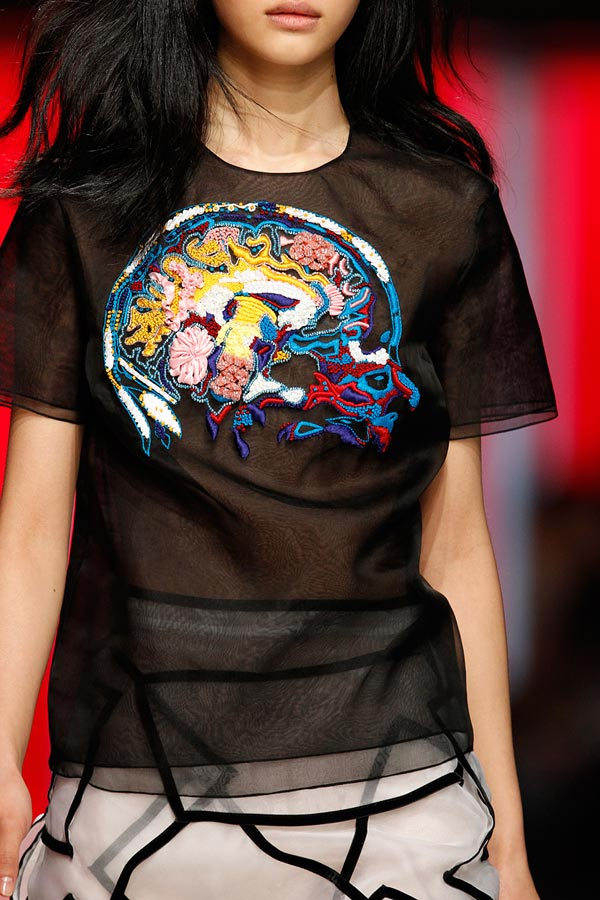 christopher kane brain fall winter 2013 2014