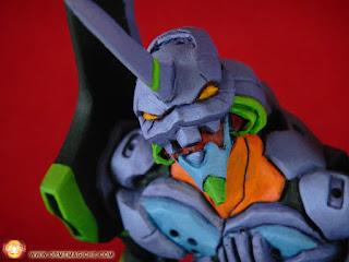 orme magiche eva 01 neon genesis evangelion modellini statuette sculture scultura action figure personalizzate fatta a mano stampo in resina super sculpey milliput da colorare
