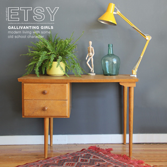 Gallivanting Girls on @etsy. Modern living with some old school character. #vintage