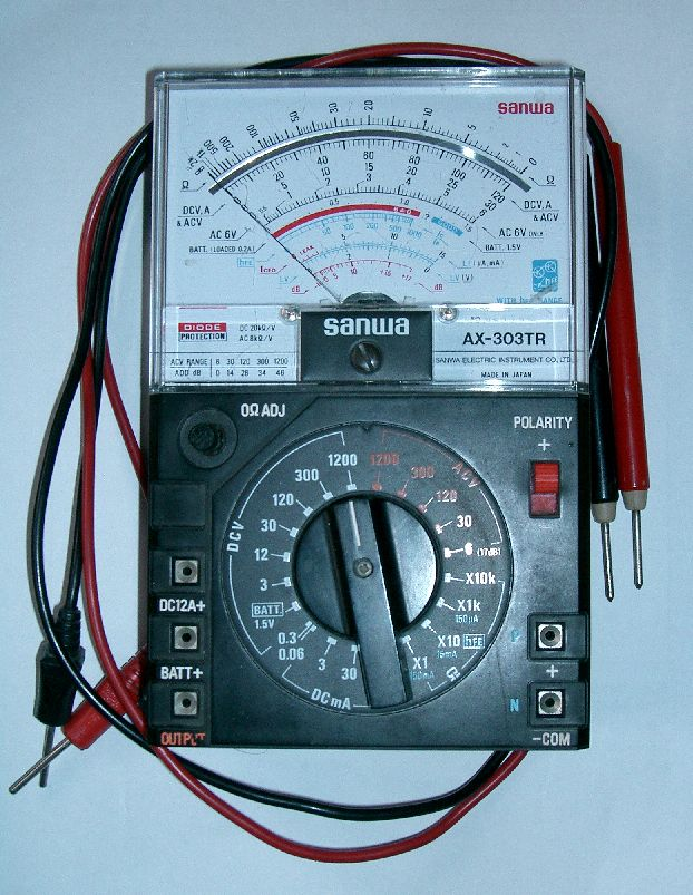 First Analog Meter : Techno electronics multimeter