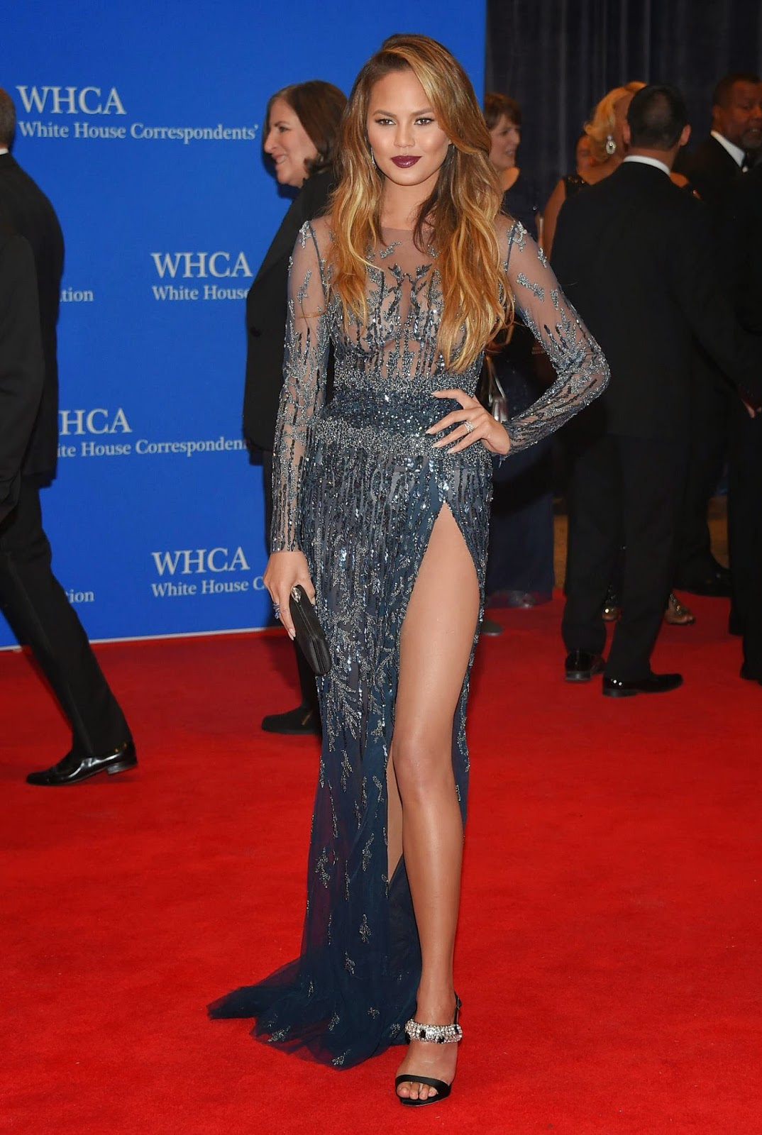 Chrissy Teigen at 2015 White House Correspondents Association Dinner