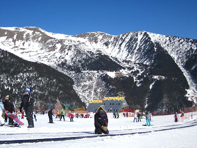 Snow-capped mountains of the Pyrenees in Andorra