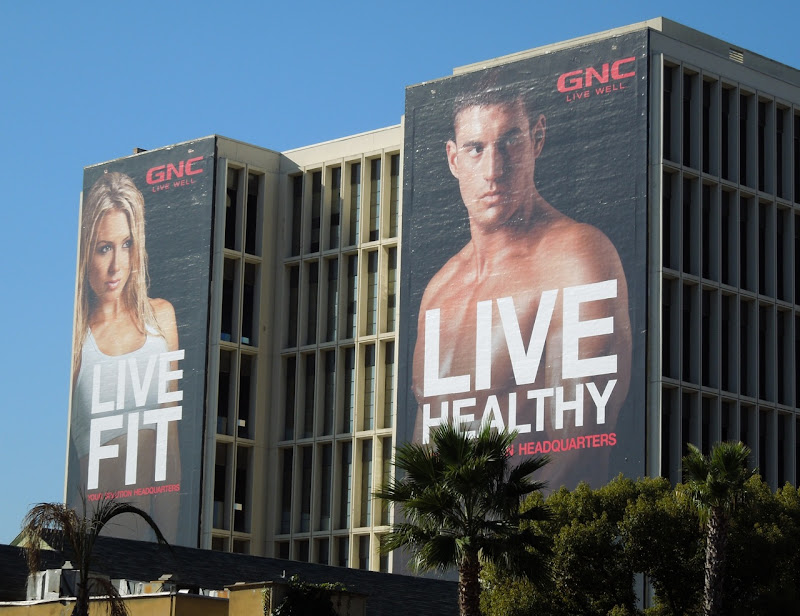 GNC Live Fit Healthy 2012 billboards