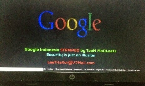 Foto Google.co.id Dihack Tidak Bisa Dibuka Hari Ini Akses DIbajak Team MaDleeTs