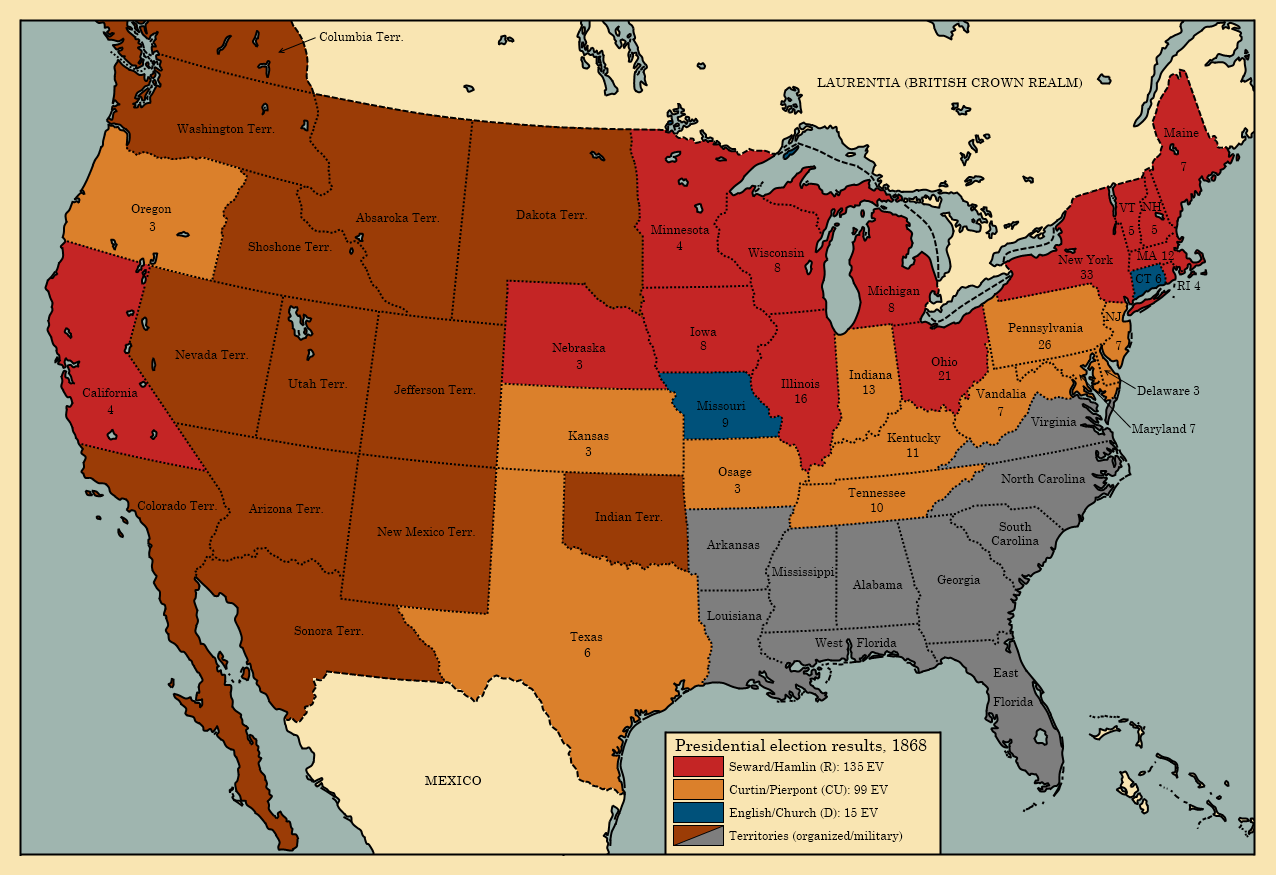 Alternate History Us Map - Alternate-us-map