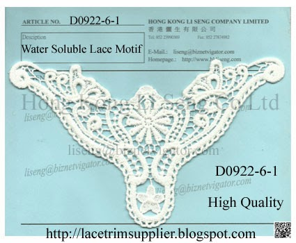 Embroidery Cotton Lace Motif Manufacturer - Hong Kong Li Seng Co Ltd