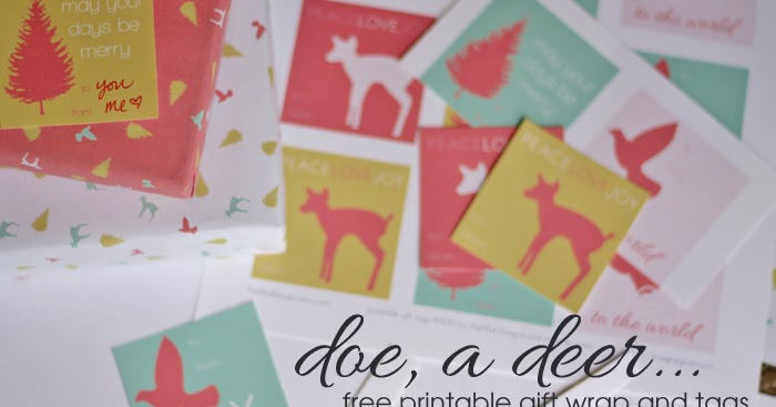 imagine gnats: free printable: gift wrap and tags