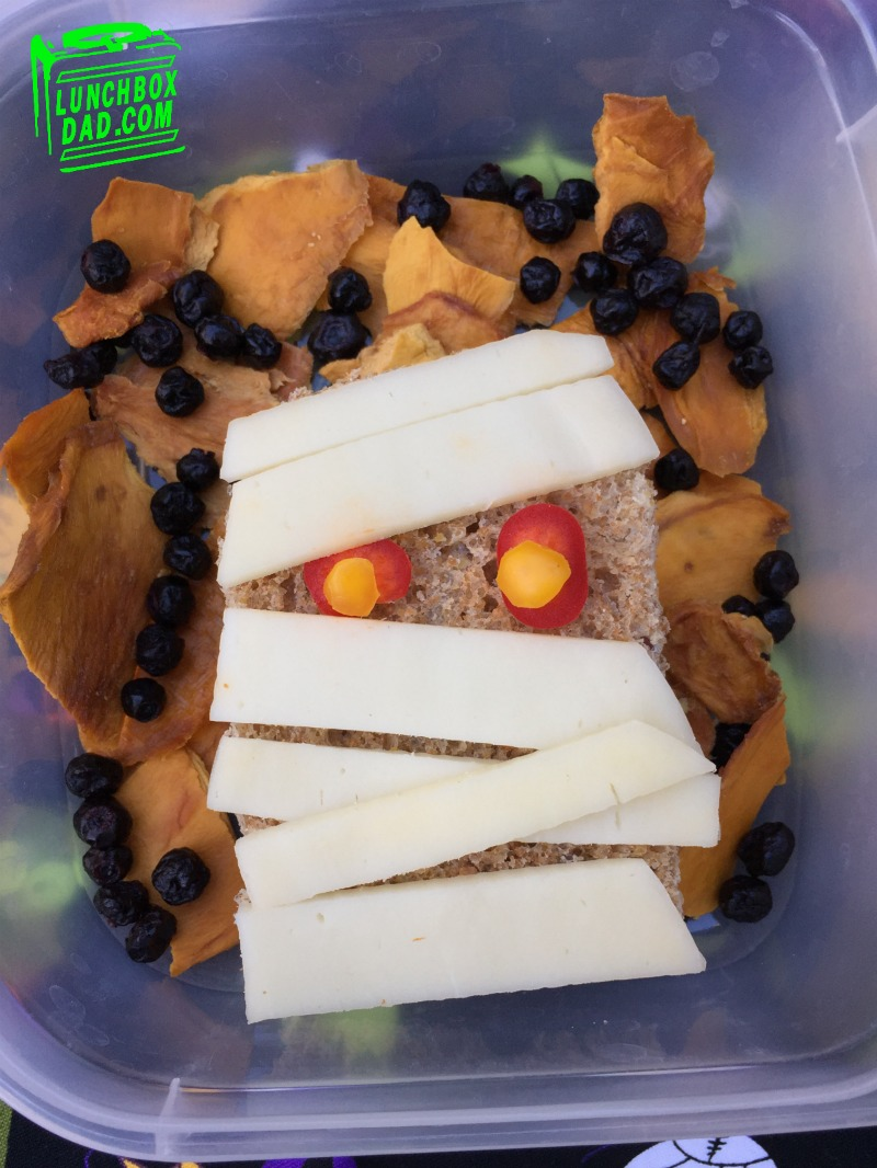 Creepy Mummy Halloween Bento Lunch