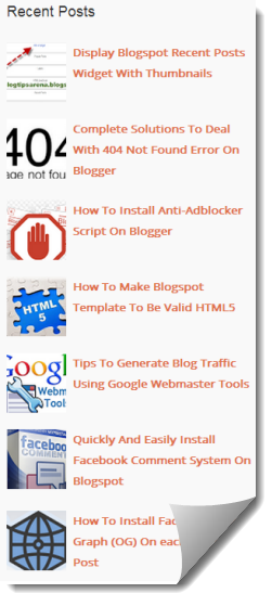 Recent Posts Widget With Thumbnails Blogger