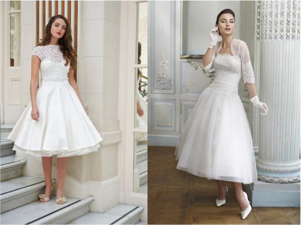 50s style short wedding dresses