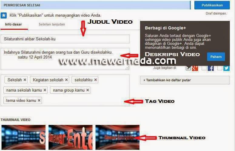 Terbaru Cara Upload Dan Setting Video Di YOUTUBE | SIMAWAR