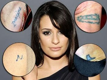 lea michele Tattoo